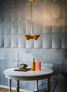Billy by Kalmar as seen at London Design Festival. Painted metal, we've been doing that too. Interior Lighting, Interior Styling, Interior Decorating, Commercial Interior Design, Commercial Interiors, Inspiration Wall, Interior Inspiration, Cool Lighting, Lighting Design