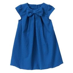 Jacquard Dot Dress at Gymboree - Kind of plain, but her features would really stand out. Little Dresses, Little Girl Dresses, Cute Dresses, Baby Girl Fashion, Kids Fashion, Baby Frocks Designs, Baby Dress, Dot Dress, Girl Dress Patterns