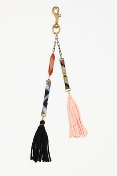 I already have a tassel for my keys, but this is beautiful! tribal tassel keychain