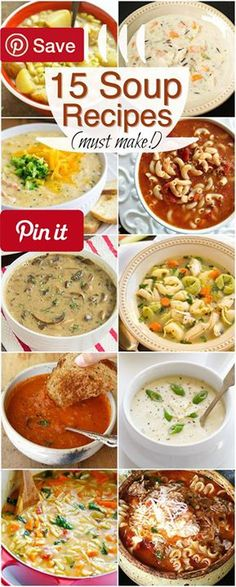 15 Absolutely Delicious Winter Soup Recipes  pin this one so you dont lose it. #delicious #diy #Easy #food #love #recipe #tutorial #yummy Make sure to follow cause we post alot of food recipes and DIY  we post Food and drinks  gifts animals and pets and sometimes art and of course Diy and crafts films  music  garden  hair and beauty and make up  health and fitness and yes we do post women's fashion sometimes  and even wedding ideas  travel and sport  science and nature  products and…