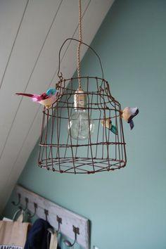 Hanglampje vogelkooitje voor keuken kinderkamer of door DutchDilight #LampSlaapkamer