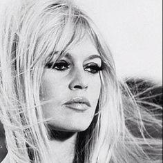 Love her! Style Attitude Era.... Brigitte Bardot Blonde Hair & Heavy Lashes