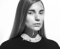 Project: Berlin + Stockholm Styling: Ulrika Lindqvist Photo: Per Zennström Hair and Makeup: Sophia Pettersson Model: Astrid B /Mikas. Necklace from Animus, top from Odeur aw14