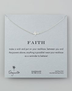 Faith Necklace by Dogeared at Neiman Marcus.