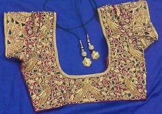 Maggam work blouse 91 9866583602 whatsapp no 7702919644