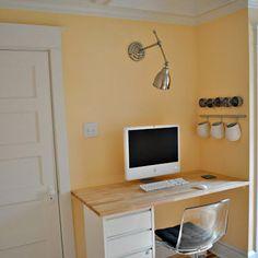 Mount desk lamp on wall.  Great for task lighting.