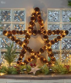Pine cone Christmas decorations are a great way to use what nature offers. This DIY Lighted Pine Cone Star is a perfect addition to your holiday decor! Pine Cone Christmas Decorations, Diy Tree Topper, Christmas Tree Star Topper, Best Christmas Lights, Pine Cone Christmas Tree, Christmas Fun, Lollipop Decorations, Pinecone Decor, Christmas Things
