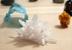 Paul Elliman, crystal made from broken Bic pens