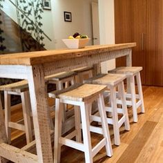 Thank you David for sharing this gorgeous photo of the High Bench Table we built for his home! It's gorgeous! Made from recycled solid timber, it is fully customisable to any dimension, finish and colour. It comes with an outstanding 10 Yr warranty
