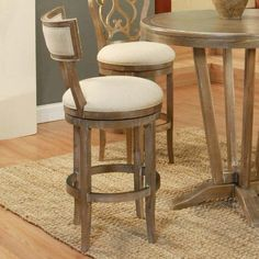 Pastel Furniture Clarksville 30'' Swivel Bar Stool with Cushion