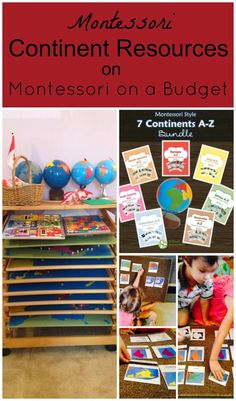 The Montessori on a Budget blog: Montessori Continent Resources