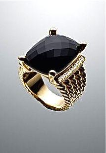 I want!!! David Yurman black onyx ring