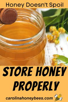 Yes, honey does not spoil.  However, if will change form.  Protect the consistency and flavor of raw honey - learn how to store honey.  #carolinahoneybees #rawhoney #storehoney Honey Bees, Raw Honey, How To Store Honey, Water For Bees, Eating Raw, Healthy Eating, Cooking With Honey, Honey Benefits, Honey Recipes