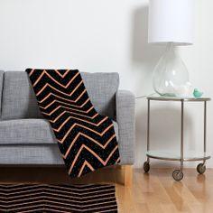 Gabi Glitter Coral Fleece Throw Blanket | DENY Designs Home Accessories