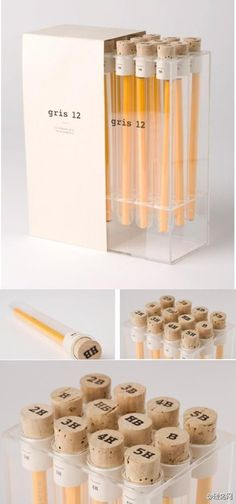 Pencil packaging by Gris 12 Cute Packaging, Brand Packaging, Packaging Design, Office Deco, Stationary Supplies, Pencil Boxes, Planner, Pen And Paper, Label Design