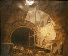 Hubert Robert - La violation des caveaus des rois de France à St Denis, 1793