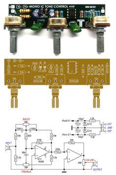 Electronic Circuit Design, Diy Amplifier, Circuit Diagram, Audio Speakers, Electronics Projects, Electronic Schematics, Roasts, Audio Amplifier, Electronic Circuit