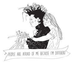 Edward Scissorhands A5 print by Phieillustrates on Etsy