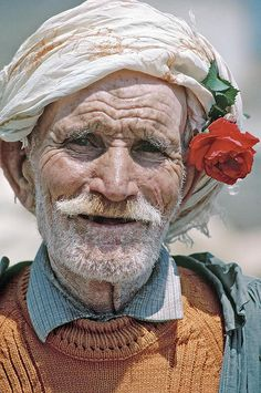 Portrait of a 90 year old man.Tunisia by United Nations Photo