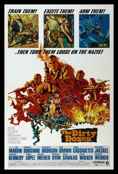 The Dirty Dozen FRIDGE MAGNET 6x8 Lee Marvin Movie Poster Canvas Print #HG #FridgeMagnetWorld
