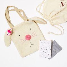 New Bunny Tote u Barrette Gift Set