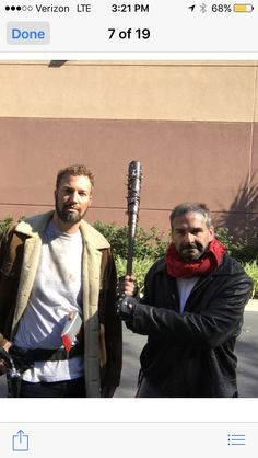 Negan  cosplay at the horror convention in Orlando 2016. Went with my buddy who went as more recent Rick and we met in early Rick.