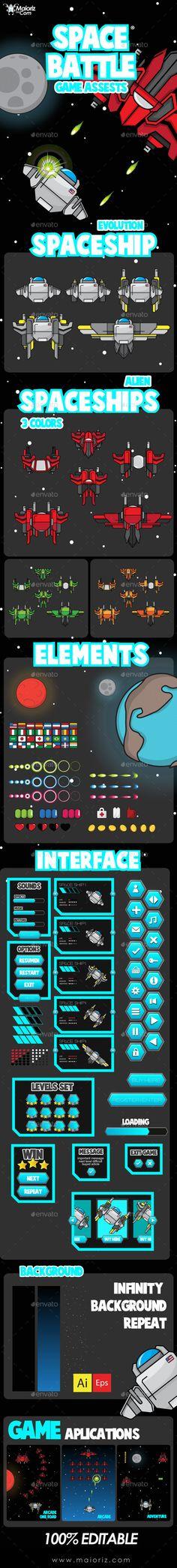 Spaceship Game Assets - Game Kits Game Assets