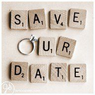 Save the date idea. I'm already married, but I thought this was cute.