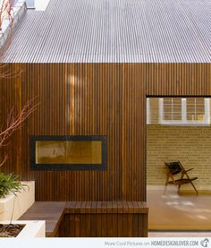 Lateral House in Notting Hill, London, United Kingdom by Pitman Tozer Architects Timber Cladding, Exterior Cladding, Architecture Résidentielle, Wooden Facade, Timber Roof, Wood Siding, House Extensions, House Design, Notting Hill