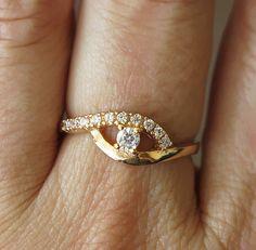 Gold ring, thin gold ring,evil eye ring,gold hamsa,evil eye ring,evil eye…