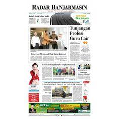 Radar Banjarmasin Edisi Sabtu 9 April 2016.  Jelang haul ke-11 Guru Sekumpul.