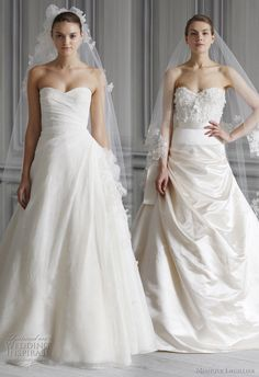 romantic wedding dresses 2012 - prince style bridal gowns monique lhuillier Spring 2012