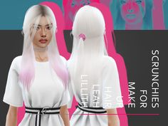 LeahLillith Scrunchie for Make Up Hair Found in TSR Category 'Sims 4 Female Hats' Mods Sims, Sims 4 Mods Clothes, Sims 4 Clothing, Sims 4 Cc Eyes, Sims Cc, Sims 4 Traits, The Sims 4 Cabelos, Pelo Sims, Sims 4 Dresses