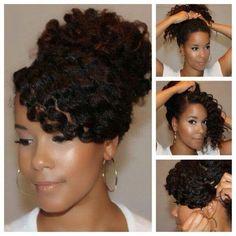 kinky ponytail!!