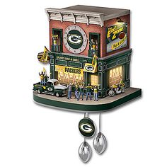 Green Bay Packers Fan Celebration NFL Cuckoo Clock