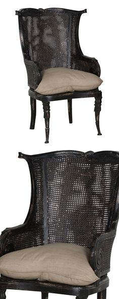 Beautifully designed, this vintage-inspired Charlotte Wingback Chair will bring an elegant dash of nostalgia into any room. This caned chair boasts stunning wicker-style weavings and gorgeously carved ...  Find the Charlotte Wingback Chair, as seen in the Modern British Flat Collection at http://dotandbo.com/collections/modern-british-flat?utm_source=pinterest&utm_medium=organic&db_sku=118023