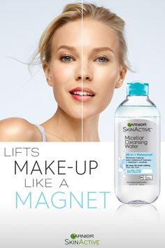 How do you cleanse without washing or scrubbing? With new Garnier SkinActive Micellar Cleansing Water All-in-1 Cleanser & Makeup Remover. Using micelles to attract dirt like a magnet, this powerful yet gentle cleanser leaves skin smooth and refreshed. See the difference for yourself today.