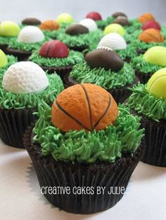 Basketball Cupcake by Creative Cakes by Julie, via Flickr