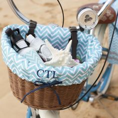 how cute would this be on my pink beach cruiser. love it