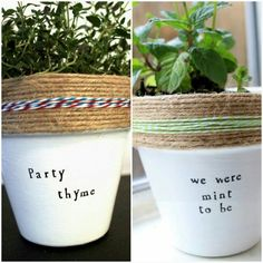 Easy Diy Garden Projects You'll Love Painted Flower Pots, Painted Pots, Clay Pot Crafts, Clay Pots, Garden Projects, Garden Pots, Herb Garden, Indoor Plants, Diy Potted Plants