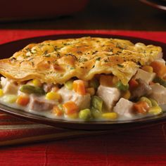 Savory Herb-Crusted Turkey Pot Pie - Puff Pastry