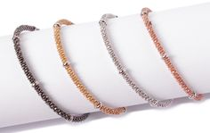 Linx and More | Booth 315 | January 2014 http://www.linxandmore.com/ http://www.californiagiftshow.com/ Sterling Silver Mesh Bracelets with magnetic clasps. Please visit our website for our full collection!