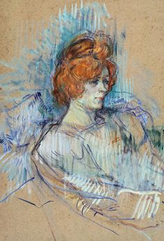 Toulouse-Lautrec =-On The Stage -  Pastel