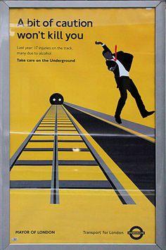 London Underground safety poster.