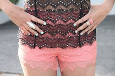 I need a pair of these shorts! They're so hard to find because the lace on most lace shorts is ugly but these are gorgeous!