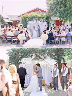 barn wedding ceremony | orange county wedding | outdoor ceremony | #weddingchicks