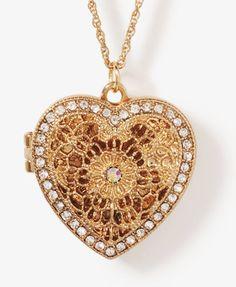 Filigree Heart Locket Necklace  $5.80