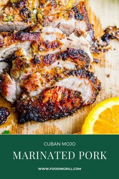 Cuban Mojo Marinated Pork A very simple but traditional Cuban roasted pork recipe filled with tons of flavor! This is nothing but an amazing pickle for pork, but to be honest, . Pork Cutlet Recipes, Cutlets Recipes, Pork Roast Recipes, Cuban Pork Roast, Cuban Mojo Marinated Pork, Cuban Oregano Recipe, Pork Loin Marinade, Pork Shoulder Recipes, Pork Cutlets