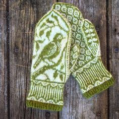 This nature-inspired pattern is recommended for intermediate-level knitters who have experience with stranding and working from charts. Double Knitting Patterns, Knitted Mittens Pattern, Fair Isle Knitting Patterns, Knitting Charts, Knit Mittens, Knitted Gloves, Hand Knitting, Crochet Patterns, Cute Crochet