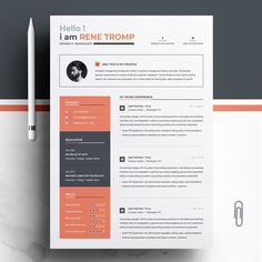 Rene Tromp Resume Template ---CLICK IMAGE FOR MORE--- resume how to write a resume resume tips resume examples for student Resume Words, Resume Cv, Resume Tips, Resume Design, Resume Examples, Business Resume, Cv Design, Resume Format, Brochure Design